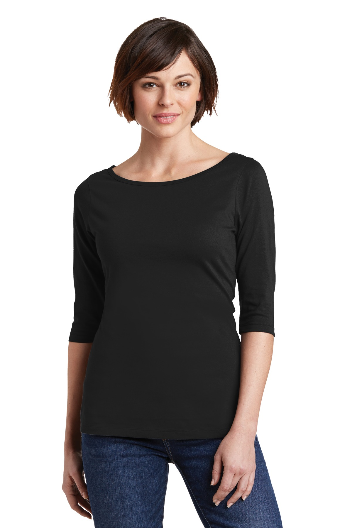 District Made Ladies 3 4 Sleeve Tee 100 Cotton Womens