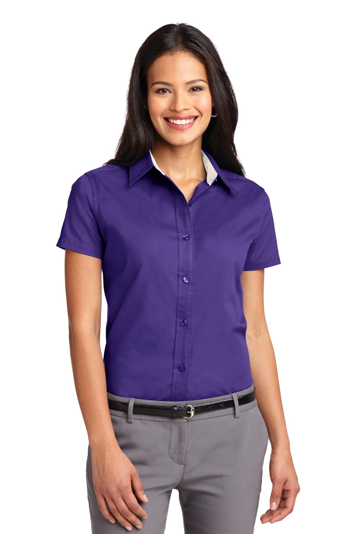 Purple Dress Shirts Women