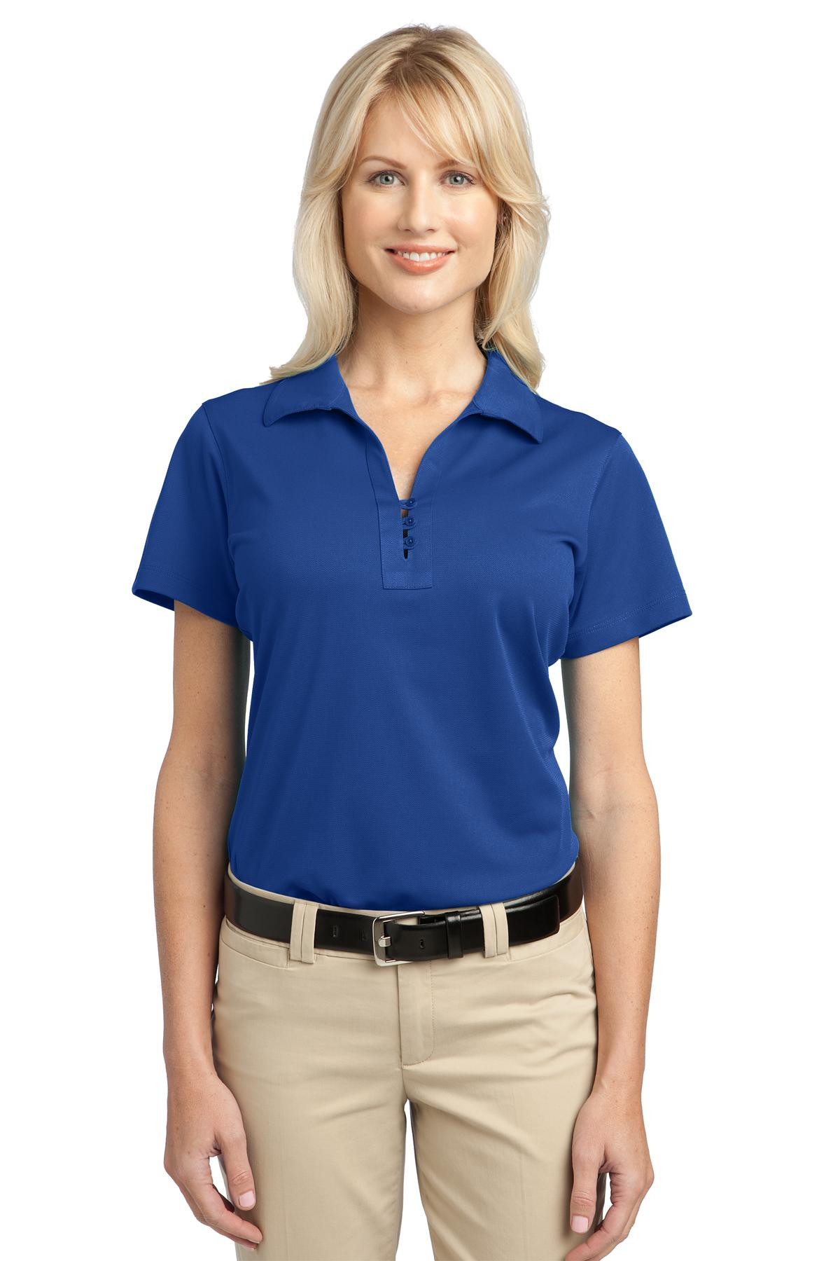 Port authority ladies casual polo shirt womens polyester for Womens golf shirts xxl