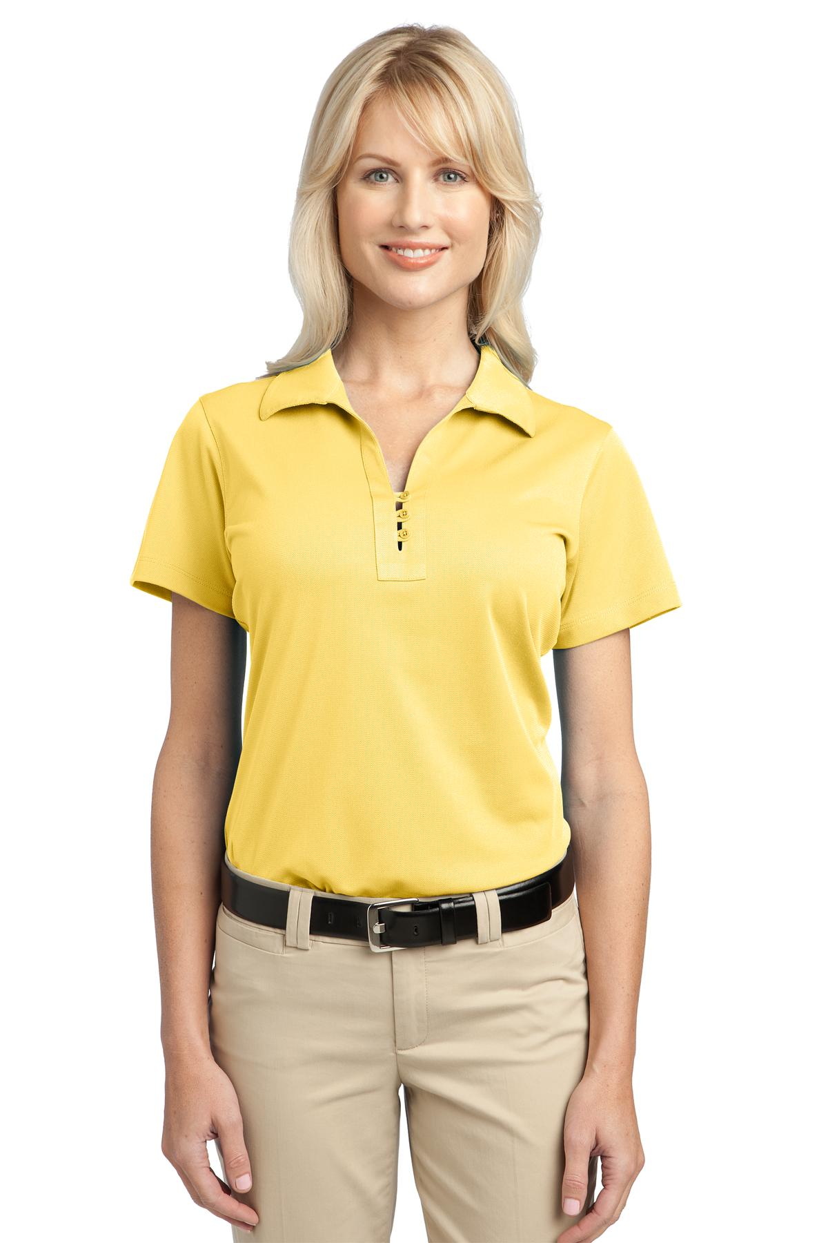Port Authority Ladies Casual Polo Shirt Womens Polyester ...