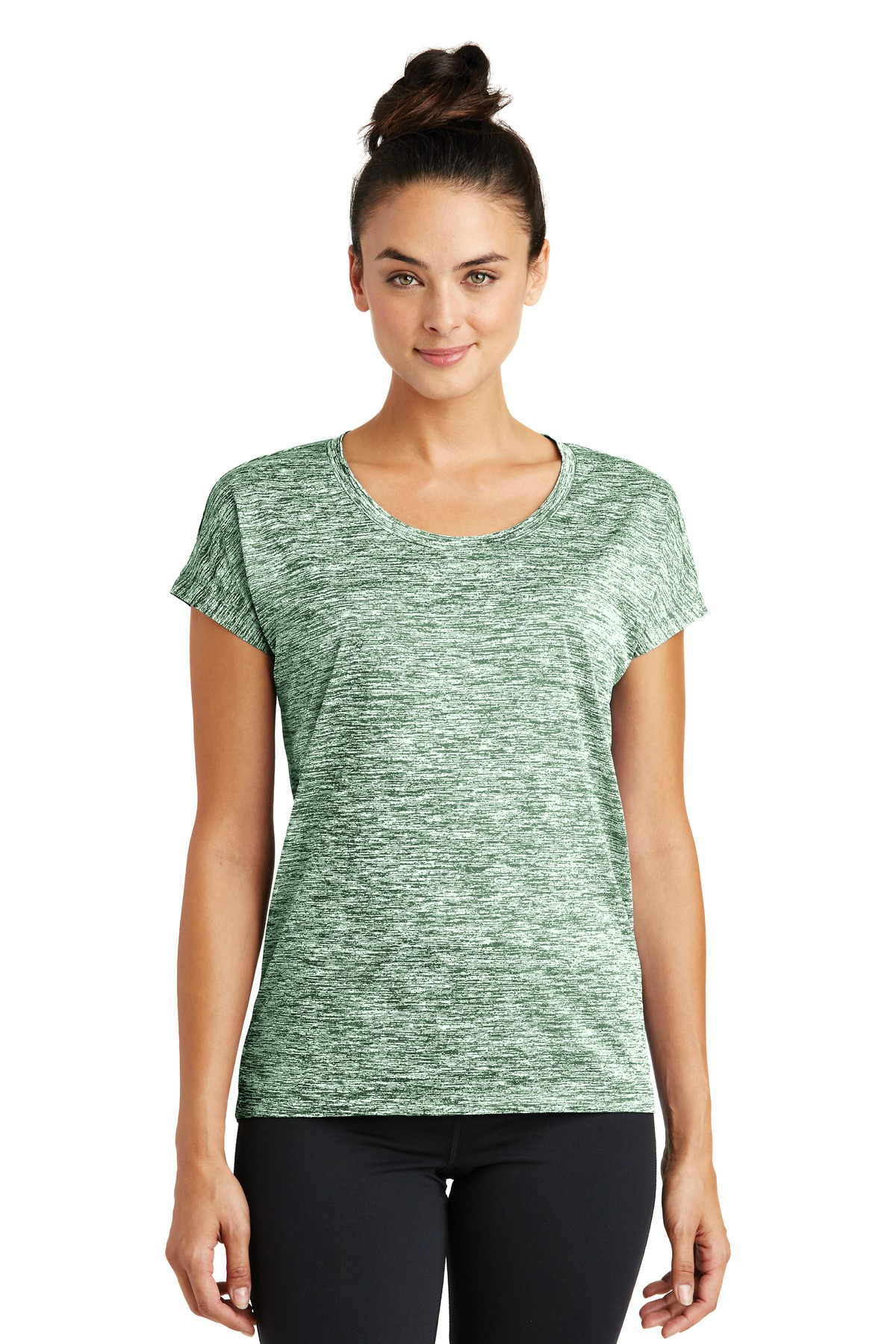 Sport tek womens heather dry fit shirt workout performance for Basic shirts for women