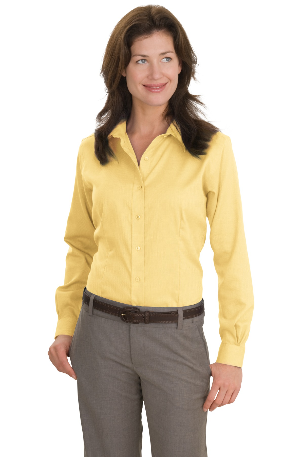 Red house ladies non iron shirt womens button down work for Ladies non iron shirts